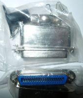 Centronics 36p female connector met soldeerverbindingen en metalen huis